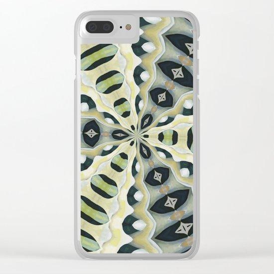 Earth Tones Symmetrical Kaleidoscope Clear iPhone Case
