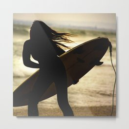 Time to catch the wave Metal Print