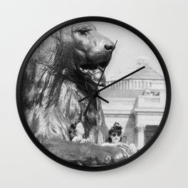 The Lion and the Girls - National Gallery London Wall Clock