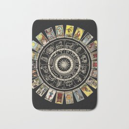 The Major Arcana & The Wheel of the Zodiac Bath Mat
