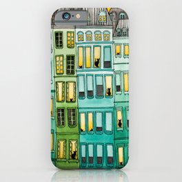 The Green Townhouses iPhone Case