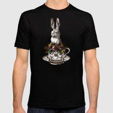 Rabbit in a Teacup Black Mens Fitted Tee MEDIUM