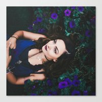 emily rickard Canvas Prints featuring Emily by Savannah Daras