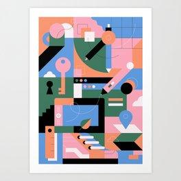 Creative Pattern II Art Print