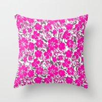 flower pattern Throw Pillows featuring Flower Pattern  by Sammycrafts
