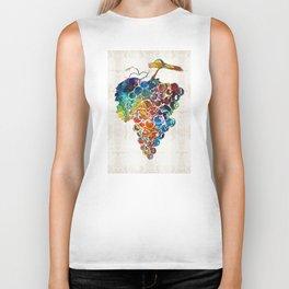 Colorful Grapes Fruit Art by Sharon Cummings Biker Tank