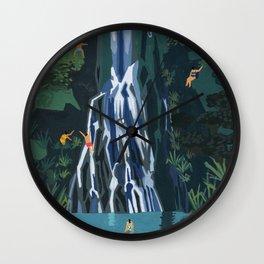 Waterfall stop Wall Clock