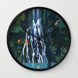 Waterfall stop Wall Clock