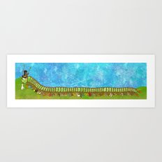 Caterpillar Shoe Fetish Art Print
