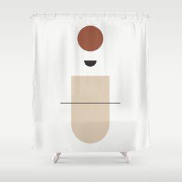 La mente splende - The mind that shines - abstract art Shower Curtain