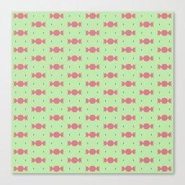 A Delicious Mint and Bubblegum Pattern Canvas Print
