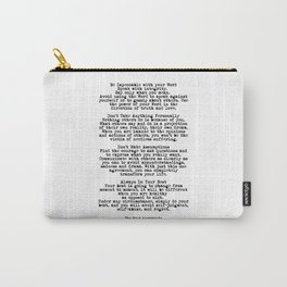 The Four Agreements #minimalist 3 Carry-All Pouch