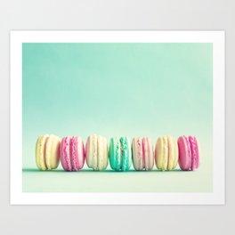 Macarons, macaroons row, pop art Art Print