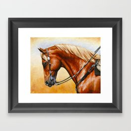 Western Sorrel Quarter Horse Framed Art Print