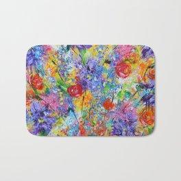 Floral Explosion 2, Floral Home Decor, Bright Colors Bath Mat