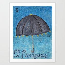 El Paraguas Art Print