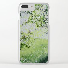 White Spring Clear iPhone Case