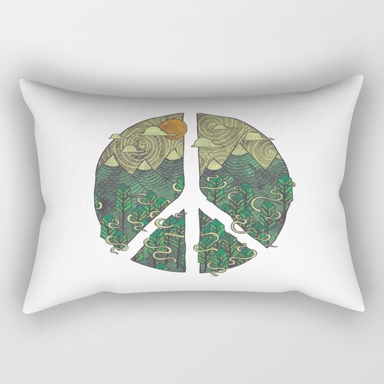 Peaceful Landscape Rectangular Pillow