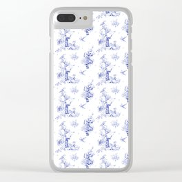 Ravenclaw Toile Clear iPhone Case