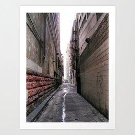 Downtown L.A. Alley Art Print
