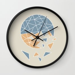 DISASTER (abstract geometric) Wall Clock