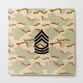 Master Sergeant (Desert Camo) Metal Print