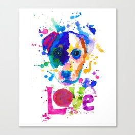 Doggy - love Canvas Print