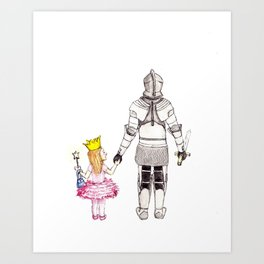 The Princess and her Knight Art Print