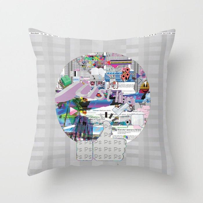 grey mandala Throw Pillow