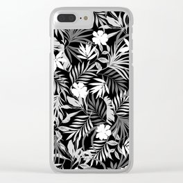 Tropical Floral - Monochrome Clear iPhone Case