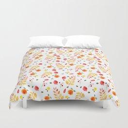 Floral Autumn Pattern Duvet Cover
