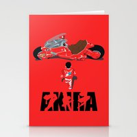 akira Stationery Cards featuring Akira by Pocketmoon designs
