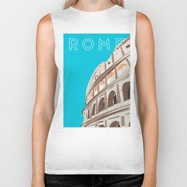 Rome, Italy Colosseum Travel Poster Biker Tank