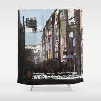 tokyo Shower Curtains featuring Tokyo by Jonas Ericson