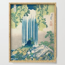Katsushika Hokusa - Yoro Waterfall in Mino Province Serving Tray
