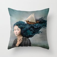 Message from the Sea Throw Pillow
