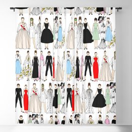 Outfits of Audrey Fashion (White) Blackout Curtain