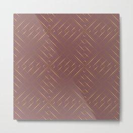 Gold geometric pattern 2 Metal Print