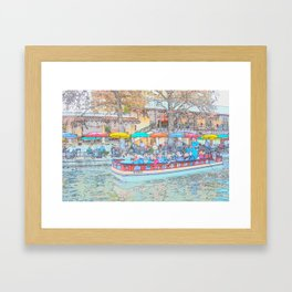 Ride Down The River - San Antonio, Texas Framed Art Print