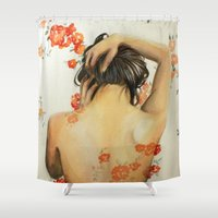 wallet Shower Curtains featuring Blend In by Madelyne Joan Templeton