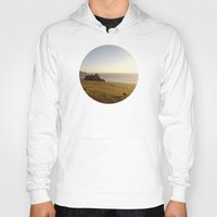 big sur Hoodies featuring Big Sur Cows by M. Wriston