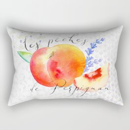 Les Pêches de Perpignan—French Country Peaches from Provence Rectangular Pillow