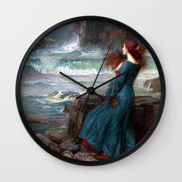 John William Waterhouse Miranda Wall Clock