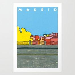 MADRID. VIADUCTO DE SEGOVIA Art Print