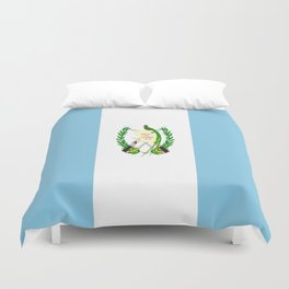 Flag of Guatemala- Guatemalan, Mixco,Villa Nueva,Petapa,tropical,central america,spanish,latine Duvet Cover