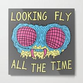 Looking Fly Metal Print