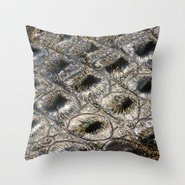 crocodile skin close up Throw Pillow