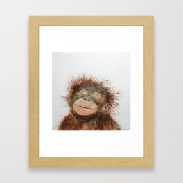 Cute Orangutan Framed Art Print