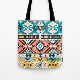 Tribal chic seamless colorful patterns Tote Bag