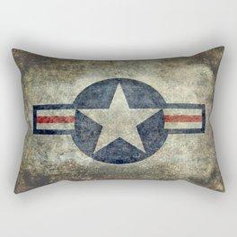 USAF vintage retro style roundel Rectangular Pillow